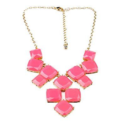 Candy Color Geometry Pendant Casual Necklace