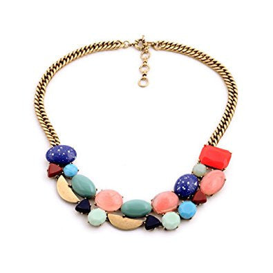 Candy Colored Resin Fashion Necklace