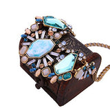 Blue Rhinestone Turkish Bohemia Fashion Necklace