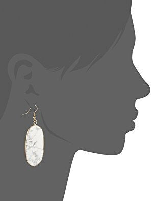 Gold Tone Oval Drop Earrings