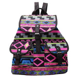 Vintage Backpack Floral Retro Multi Colored Bag - Crystalline
