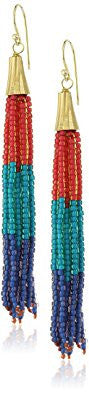 Multicolor Bead Tassel Earrings