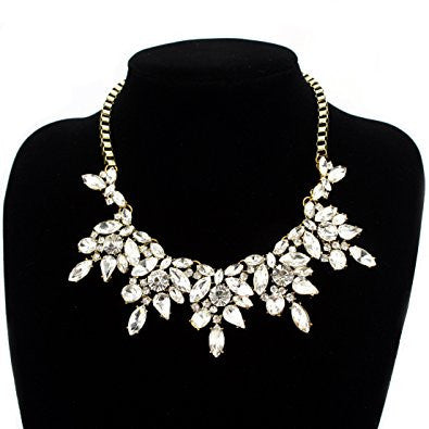 Bling Rhinestone Crystal Layered Necklace For Women