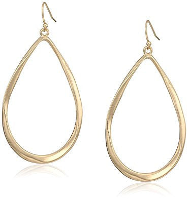 Gold Twisted Teardrop Earrings
