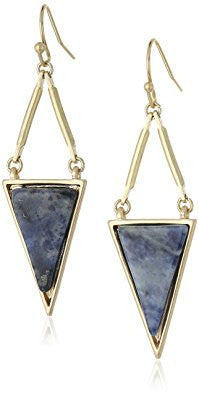 Blue Stone Triangle Shape Earrings