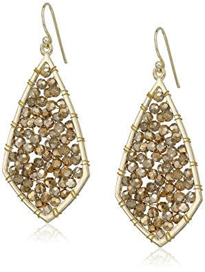 Gold Crystal Diamond Earrings