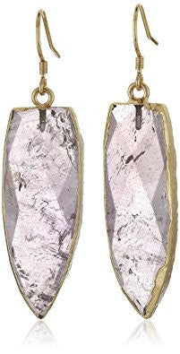 Pink Natural Arrow Stone Drop Earrings