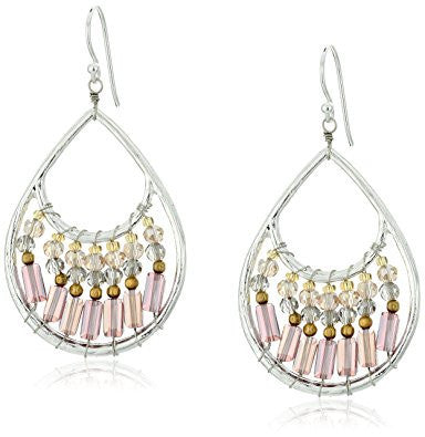 Smoky Crystal Silver Drop Earrings