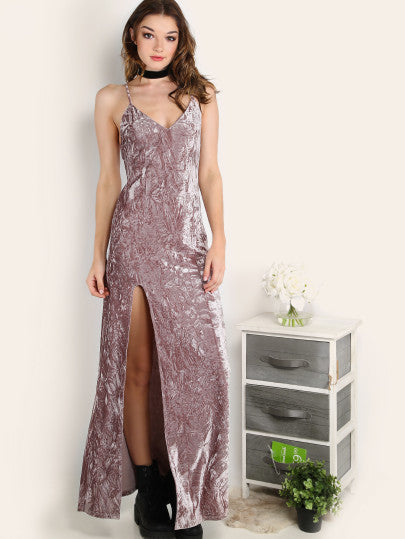 Purple Velvet Homecoming Prom Dress