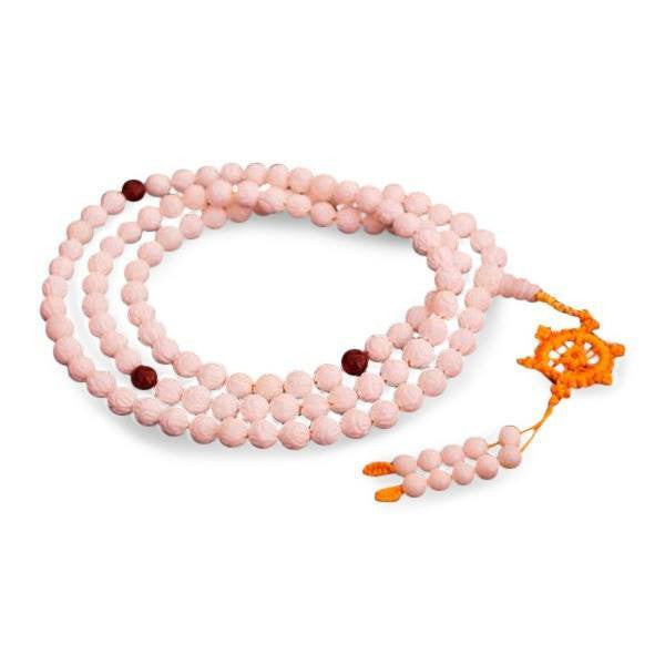 Handcarved Conch Shell Mala Beads