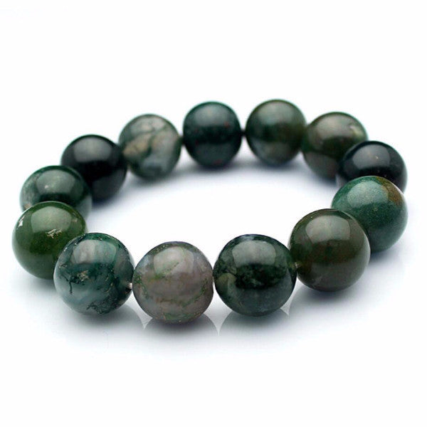 Green Forest Agate Stone Bracelet [3 Sizes]