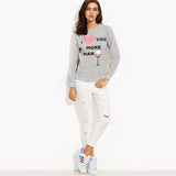 I ‰ªÁ you more than Jumper Trendy Sweater
