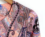 2016 New European and American style retro print round neck sport jackets women summer coat - Crystalline
