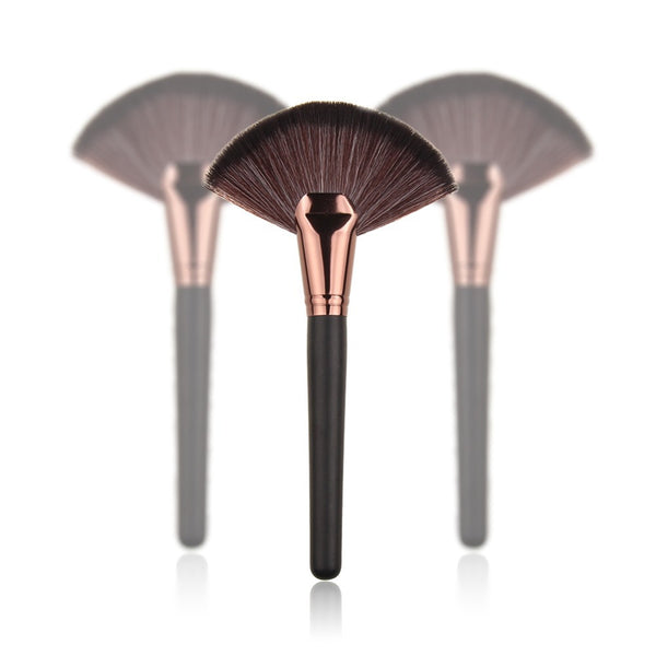 New 1pc Soft Makeup Large Fan Brush Blush Powder Foundation Make Up Tool big fan Cosmetics brushes