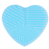 Heart Shaped Silicone Clean brushes Makeup Wash Brush Silica Glove Scrubber Board Cosmetic Cleaning Tools for makeup brushes