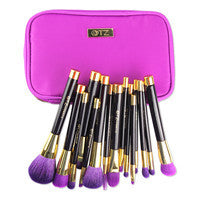 Makeup Brushes Soft 15pcs Pro Cosmetic Blending Contour Eyebrow Foundation With Bag