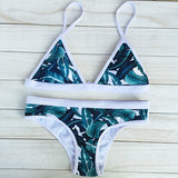 ‰ªÁ The tans will fade but the memories will last forever ‰ªÁ2016 Women Sexy Push Up Swimwear Print Bikini Brazilian - Crystalline