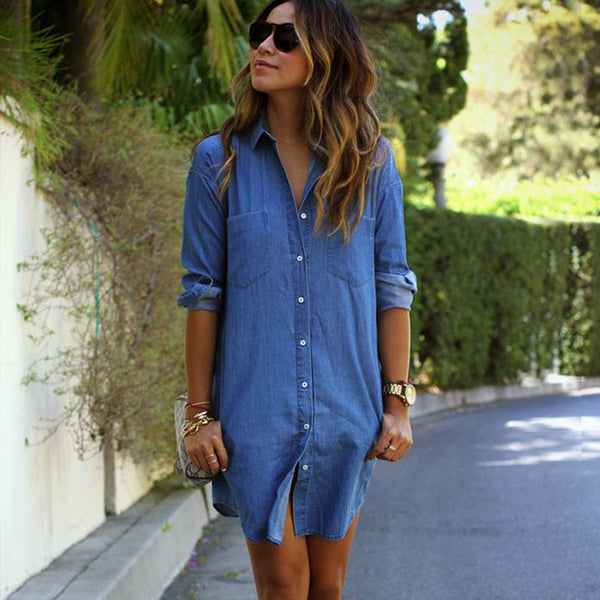 ‰ÏÀ Denim Dress Long Sleeve ‰ÏÀ