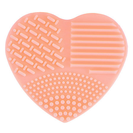 Colorful Heart Shape Clean Make up Brushes Wash