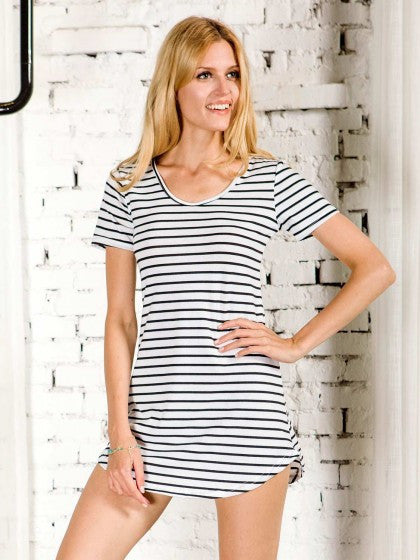 Short Sleeve Striped Dress