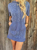 Hoodie Sweatshirt Dress with Drawstrings and Pockets Trendy Dress