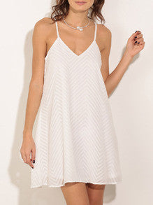 White Spaghetti Strap Sundress