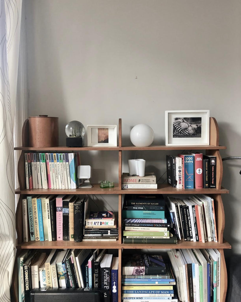 photo of bookshelf