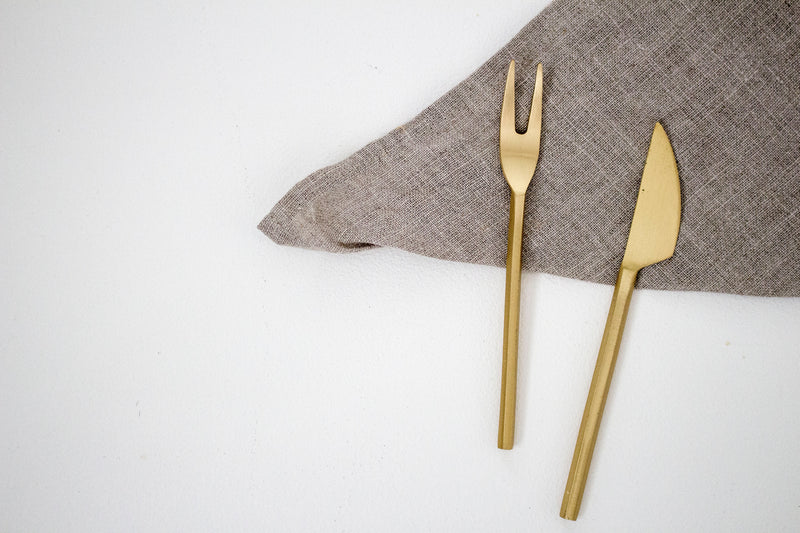 Small Brass Serving Set - Girl and the Abode