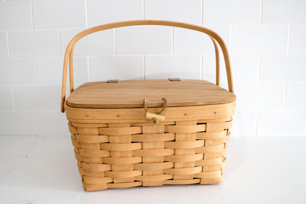 Natural Medium Picnic Basket - Girl and the Abode
