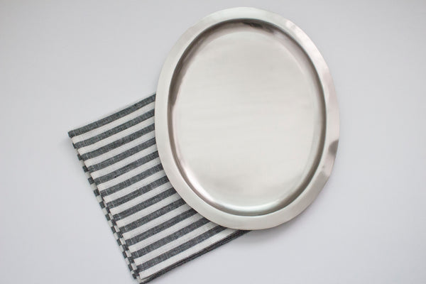 OVAL STEEL TRAY