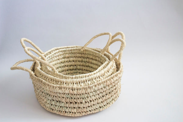 Round Open Weave Baskets - Girl and the Abode