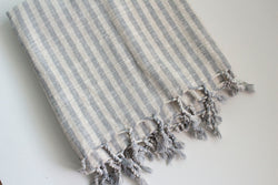 Cara Linen Turkish Throw - Girl and the Abode