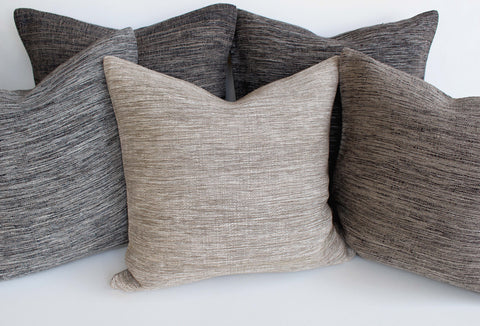 Hand Woven Linen Pillows - Girl and the Abode