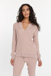 Dusty Rose Cabo Cashmere Split Neck Top, var-23477271101498,var-23477271134266,var-23477271167034,var-23477271199802,var-23477271232570