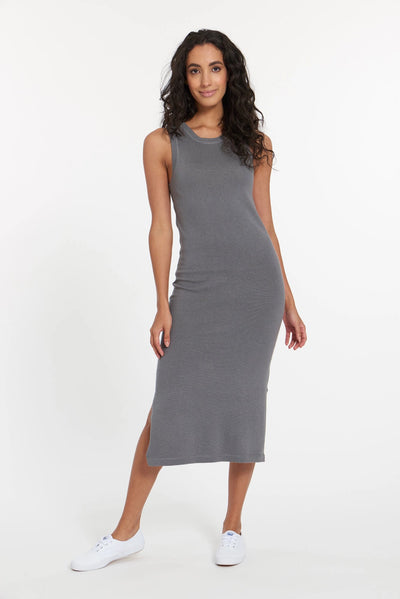 Granite Grey Atacama Cashmere Tank Dress, var-23484945727546,var-23484945760314,var-23484945793082,var-23484945825850,var-23484946087994