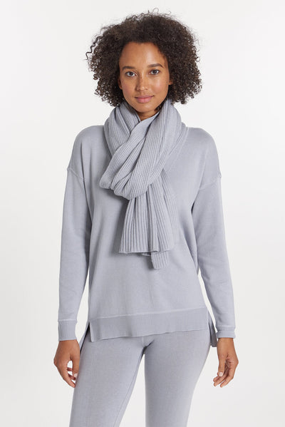 Light Grey Cashmere Scarf, var-31021098074170