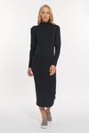 Black Heather Cashmere Chelsea Mock Dress, var-31336867397690,var-31336867430458,var-31336867463226,var-31336867495994,var-31336867528762