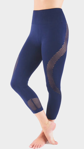 Seamless Mesh legging- Navy