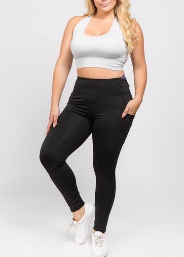 PLUS SIZE! Better Than Ever 5 Pocket Leggings- Black