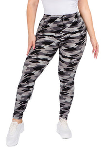 Camouflage Leggings- Black