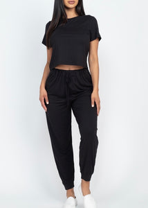 Comfy Girl Set- Black