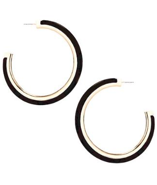 Yankee South Black and Gold Large Hoops - Yankee South