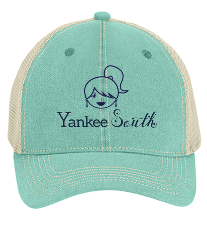 Yankee South Girl Soft Mesh Mint Trucker Hat - Yankee South