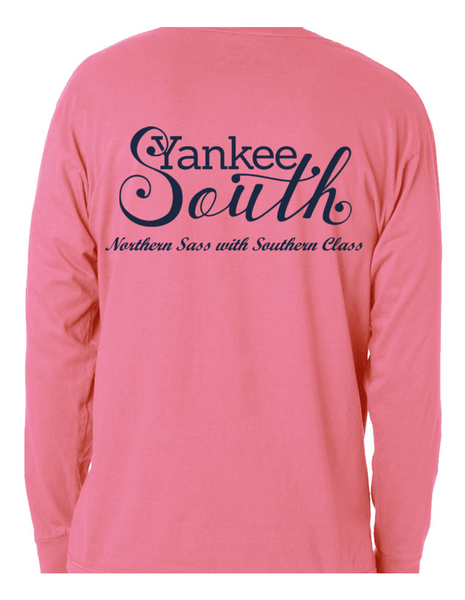 Signature Yankee South Long Sleeve Shirt-Pink (Unisex) - Yankee South