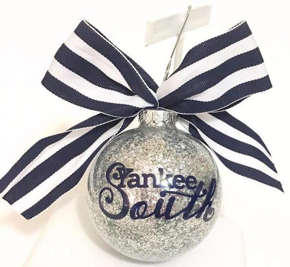 Yankee South Glittter Ornament - Yankee South
