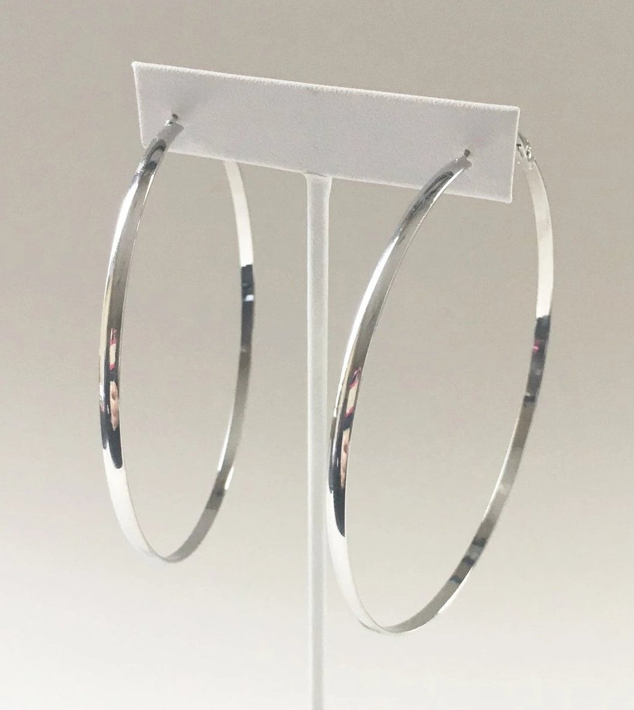Yankee South Silver Large Hoop Earrings - Yankee South