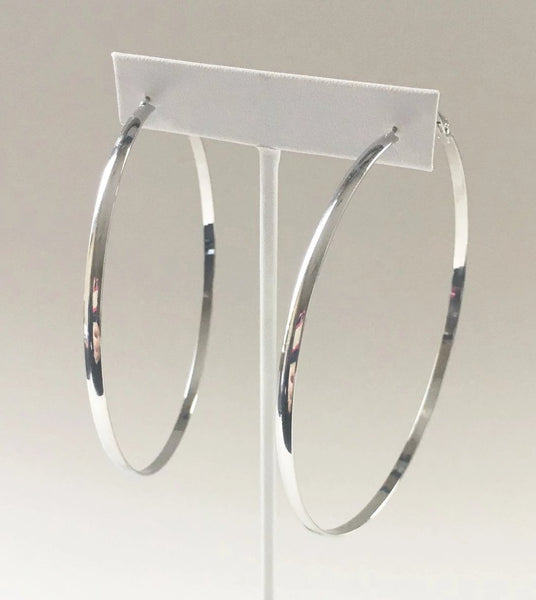 Yankee Silver Large Hoop Earrings - Yankee South