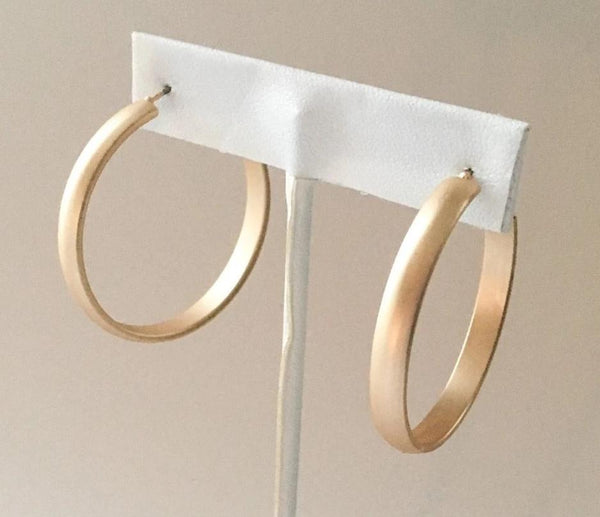 Yankee South Gold Matte Small Hoop Earrings - Yankee South