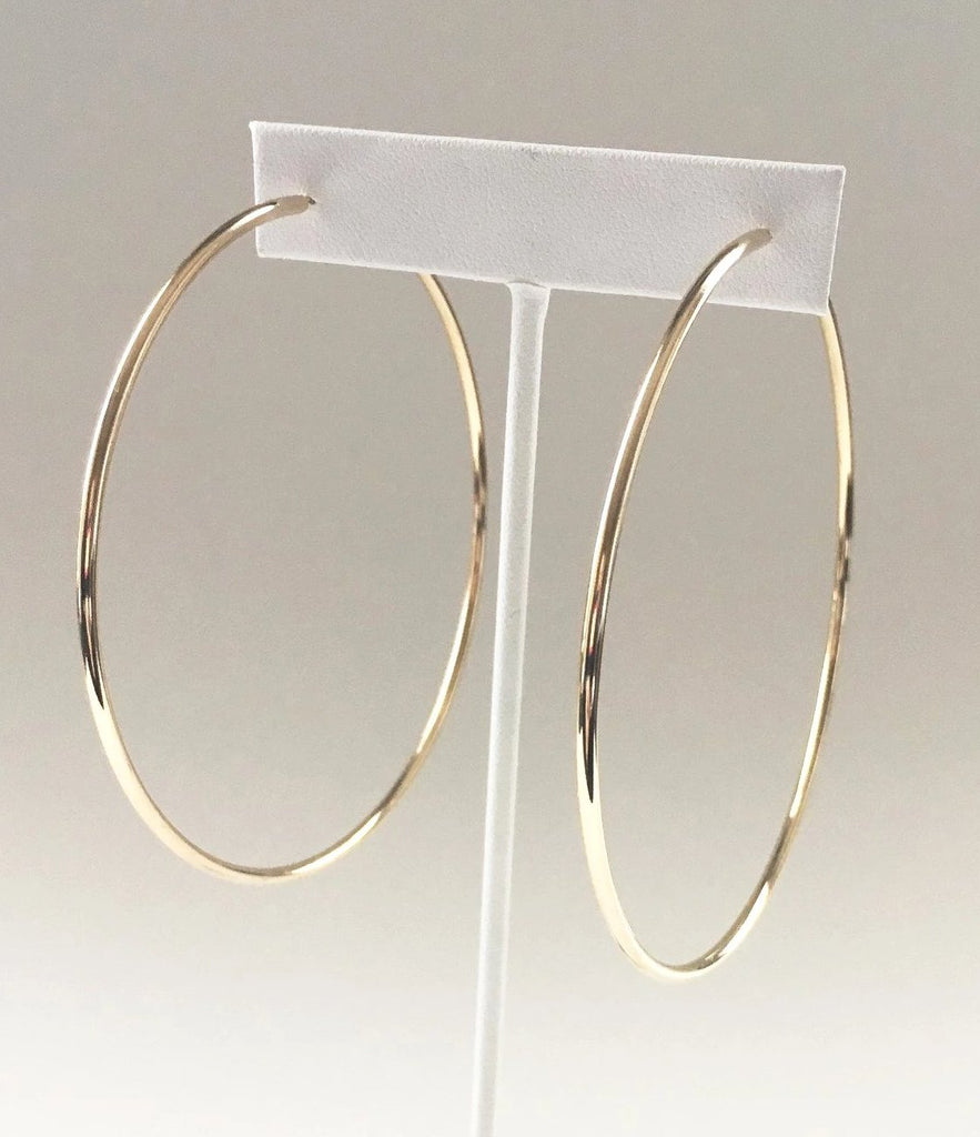 Yankee South Gold Large Hoop Earrings - Yankee South
