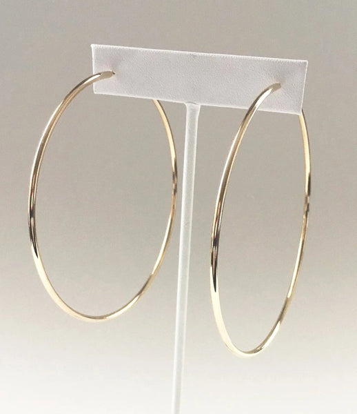 Yankee Gold Large Hoop Earrings - Yankee South